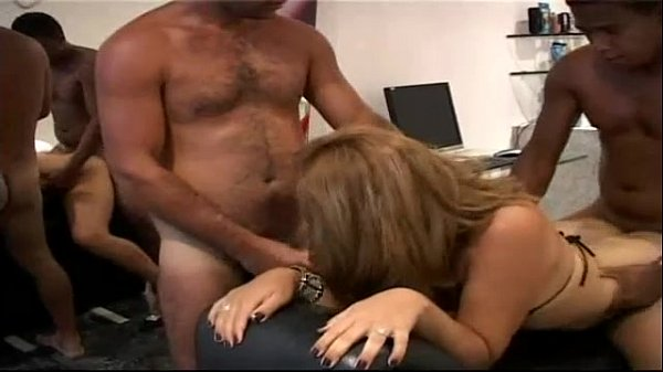 Teen shemale bareback threesome