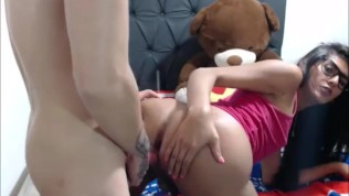 Brunette Tranny Takes It Up The Ass After Blowjob